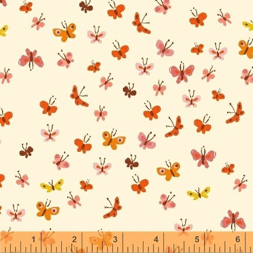 40933-5 Tiger Lily designed by Heather Ross for Windham Fabrics