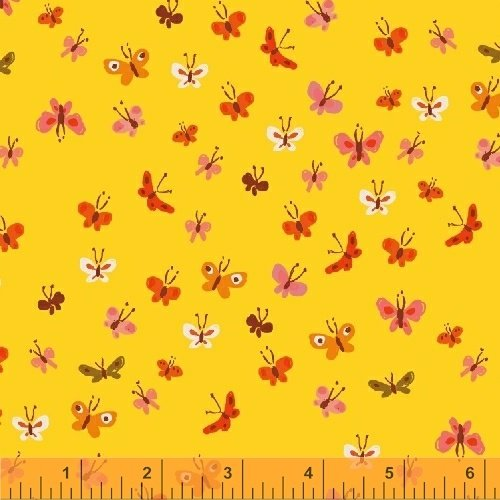 40933-7 Tiger Lily designed by Heather Ross for Windham Fabrics