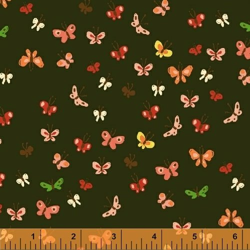 40933-8 Tiger Lily designed by Heather Ross for Windham Fabrics