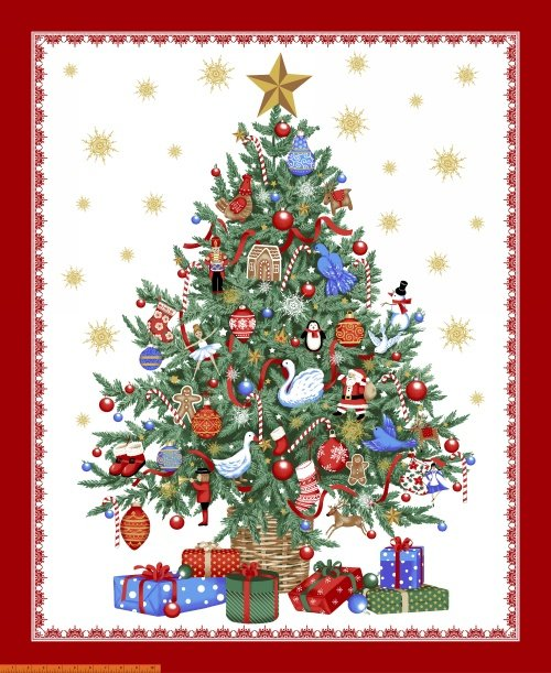 41645PM-X O Chirstmas Tree by Windham Fabrics