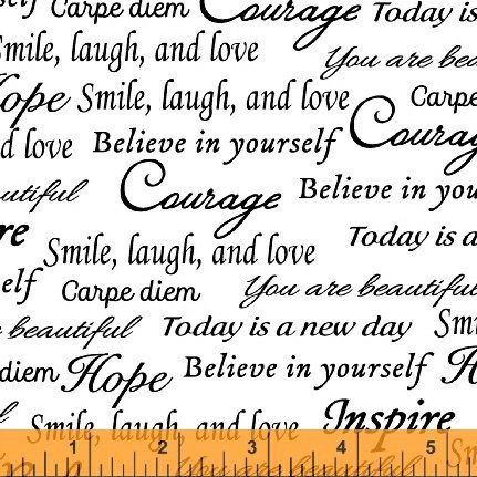 41948-5 Inspirational Words 108 wide back by Windham Fabrics