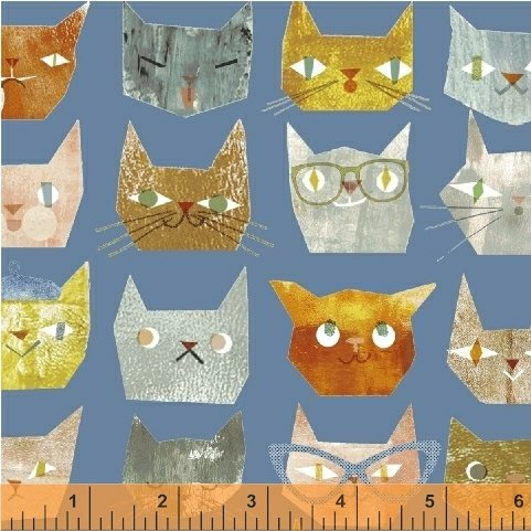 42837-3 Smarty Cats by Maria Carluccio for Windham Fabrics