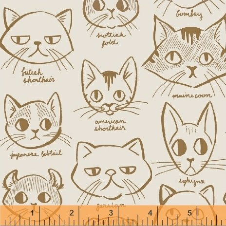 42950-2 Caturday by Windham Fabrics