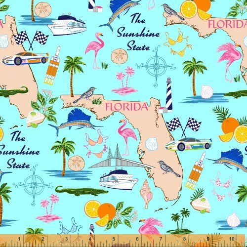 46509-X Florida State Fabric by Windham Fabrics
