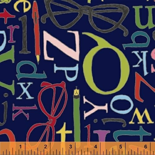 50171-1 108 Wide Back Word Play by Windham Fabrics