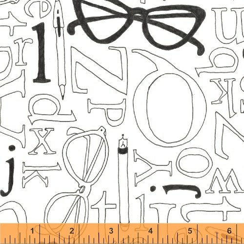 50171-3 108 Wide Back Word Play by Windham Fabrics