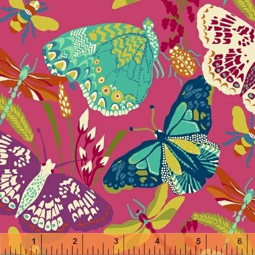 50233-2 Butterfly Dance by Sally Kelly for Windham Fabrics