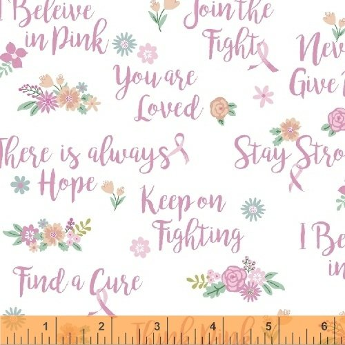 50251-2 I Believe in Pink by Windham Fabrics