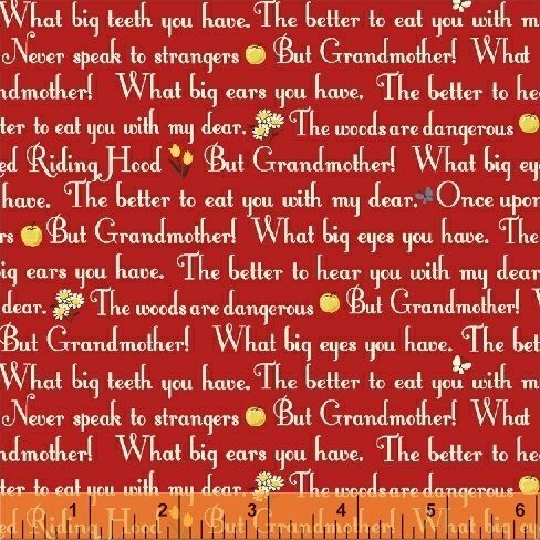 50299-4 Little Red Riding Hood by Whistler Studios for Windham Fabrics