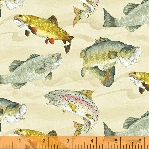 50381-4 Gone Fishin by Whistler Studios for Windham Fabrics