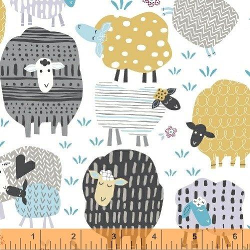 50829-1 Bah Bah Baby by Jill McDonald for Windham Fabrics