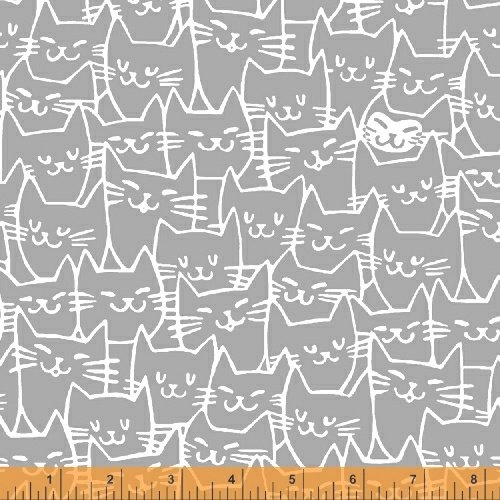 52221-3 Cat Happy by Windham Fabrics