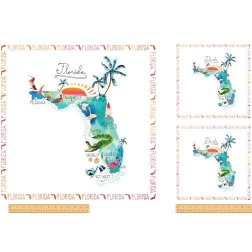 51140P-X Florida State Panel  by Windham Fabrics