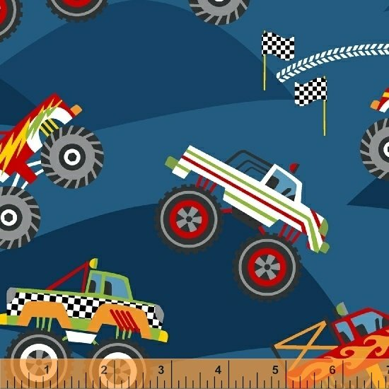 51266-2 Monster Trucks by Windham Fabrics