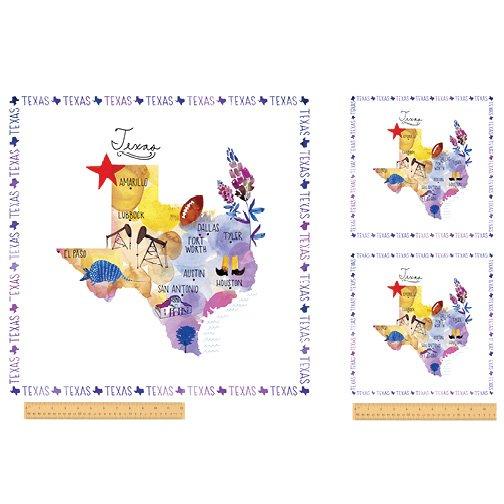 51345P-X Texas State Panel  by Windham Fabrics