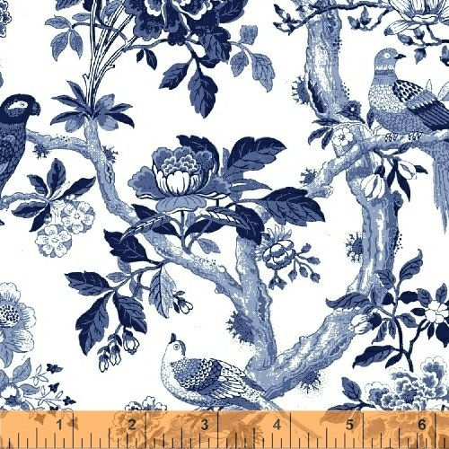 51425-1 Blue Byrd by Colonial Williamsburg for Windham Fabrics