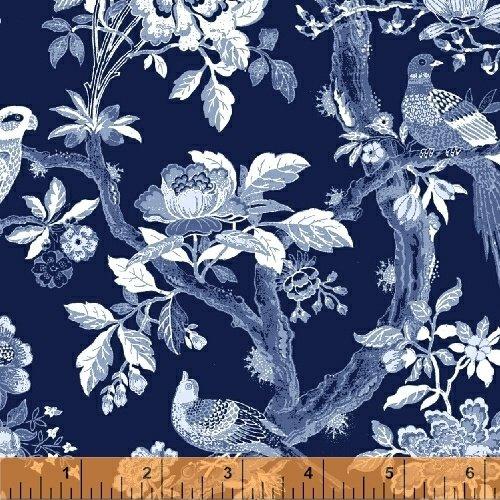 51425-2 Blue Byrd by Colonial Williamsburg for Windham Fabrics