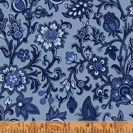 51426-3 Blue Byrd by Colonial Williamsburg for Windham Fabrics