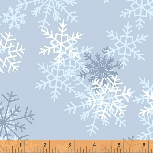 51461-2 Snowflakes 108 Wide Back by Windham Fabrics