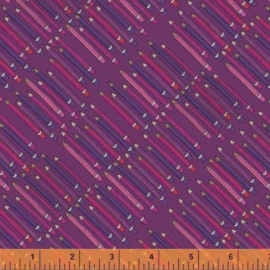 51482-8 Pencil Club by Heather Givans of Crimson Tate for Windham Fabrics