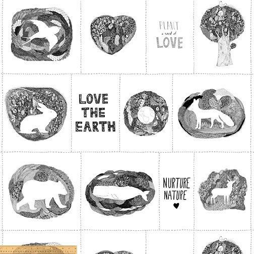 15496DP-1 Love the Earth by Windham Fabrics