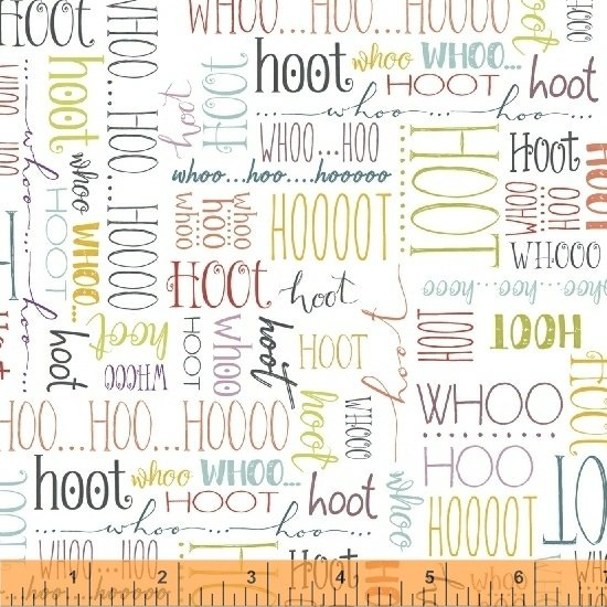 51596-1 Whoo's Hoo by Terri Degenkolb of Whimsicals for Windham Fabrics