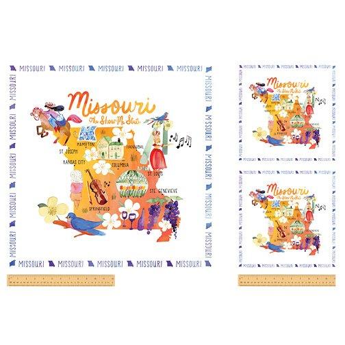 51662P-X Missouri State Panel  by Windham Fabrics