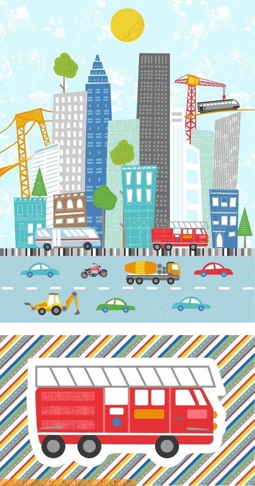 51836P-X Around Town by Whistler Studios for Windham Fabrics
