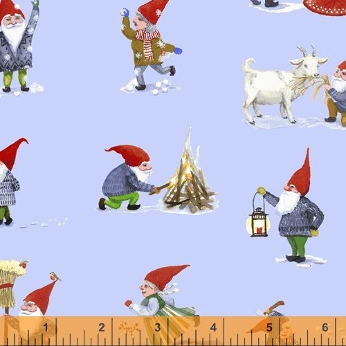 51874-1 Winter Gnomes by Striped Pear Studio for WIndham Fabrics