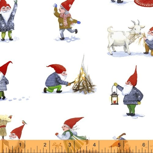 51874-2 Winter Gnomes by Striped Pear Studio for Windham Fabrics