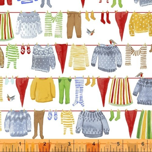 51875-2 Winter Gnomes by Striped Pear Studio for Windham Fabrics