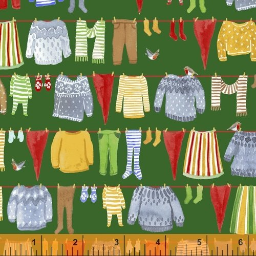 51875-3 Winter Gnomes by Striped Pear Studio for Windham Fabrics