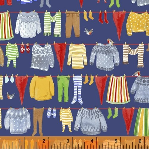 51875-4 Winter Gnomes by Striped Pear Studio for Windham Fabrics