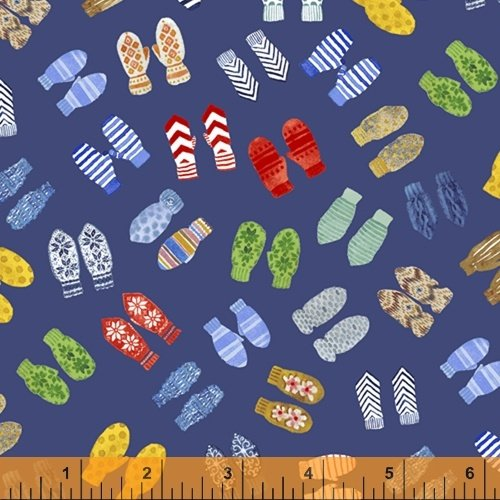 51877-4 Winter Gnomes by Striped Pear Studio for Windham Fabrics