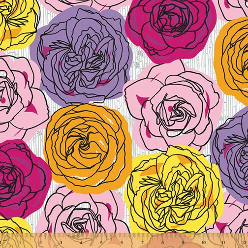 52010-2 Norma Rose by Natalie Barnes of Beyond the Reef for Windham Fabrics