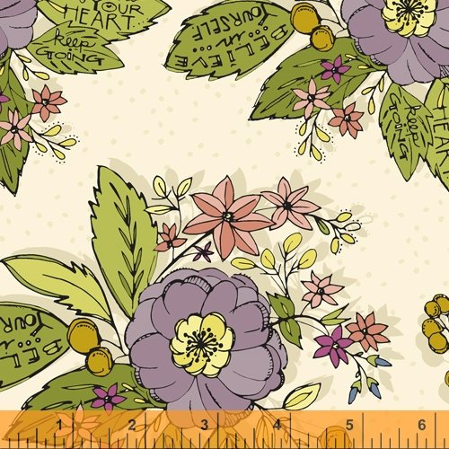 52083-1 Bubbies Buttons and Blooms by Kori Turner Goodhart of Olive Grace Studios for Windham Fabrics