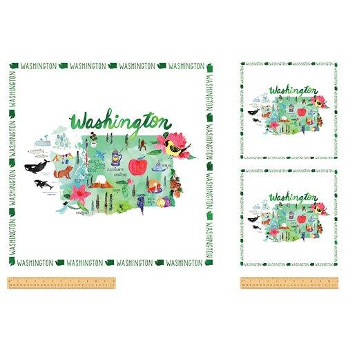 52135DP-X Washington State Panel  by Windham Fabrics
