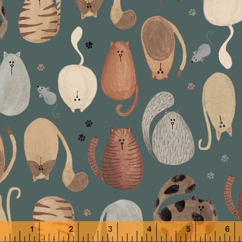 52270-3 Fat Cat by Windham Fabrics
