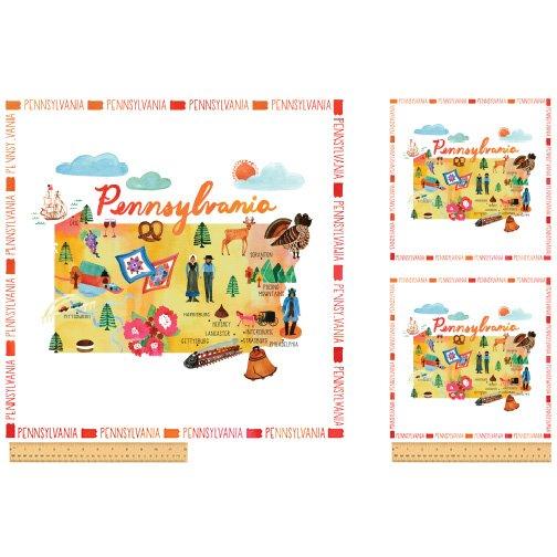 52276DP-X Pennsylvania State Panel  by Windham Fabrics