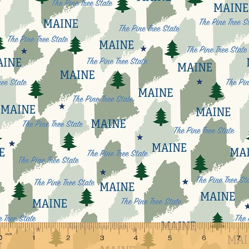 52327D-ME Maine State Pride by Windham Fabrics