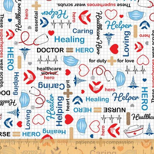 52528-1 Calling All Nurses for Windham Fabrics