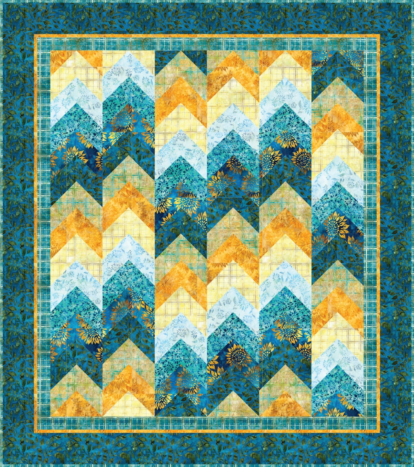 Peeks and Valleys Quilt Pattern by Mountainpeek Creations