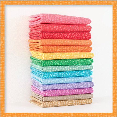 BEDRFATQ-1 Bedrock Jelly Bean Fat Quarter Bundle Fabrics by Windham Fabrics