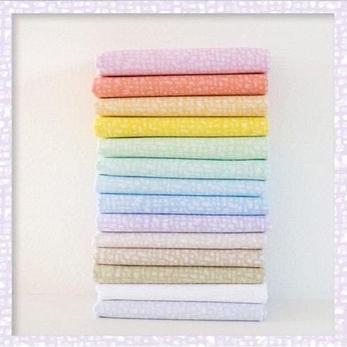 BEDRFATQ-4 Bedrock Pastel Tonal Fat Quarter Bundle by Windham Fabrics