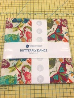 10 squares Butterfly Dance by Sally Kelly for Windham Fabrics