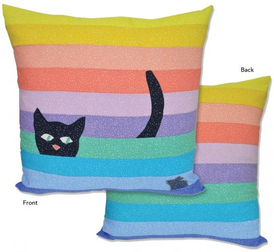 CSPKIT -Bedrock Cat Stripe Pillow Kit by LJ Simon for Windham Fabrics