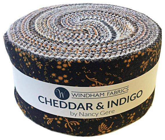 2 1/2 Strips Cheddar & Indigo by Windham Fabrics