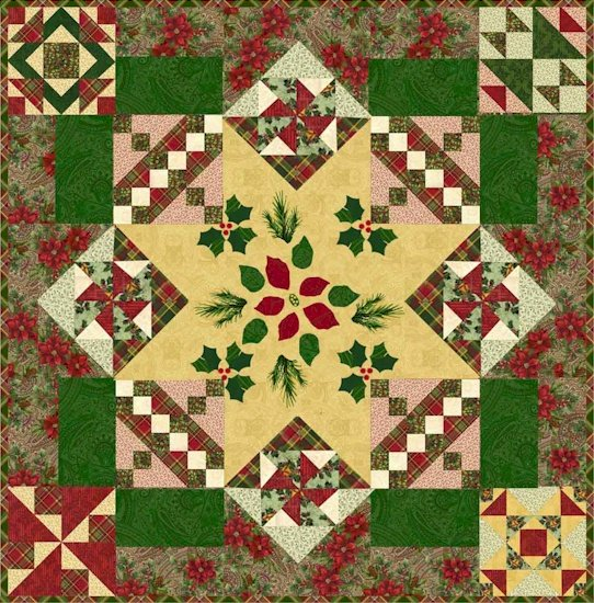 Christmas Peace Quilt Block of the Month designed by Jerry Stube for Windham Fabrics