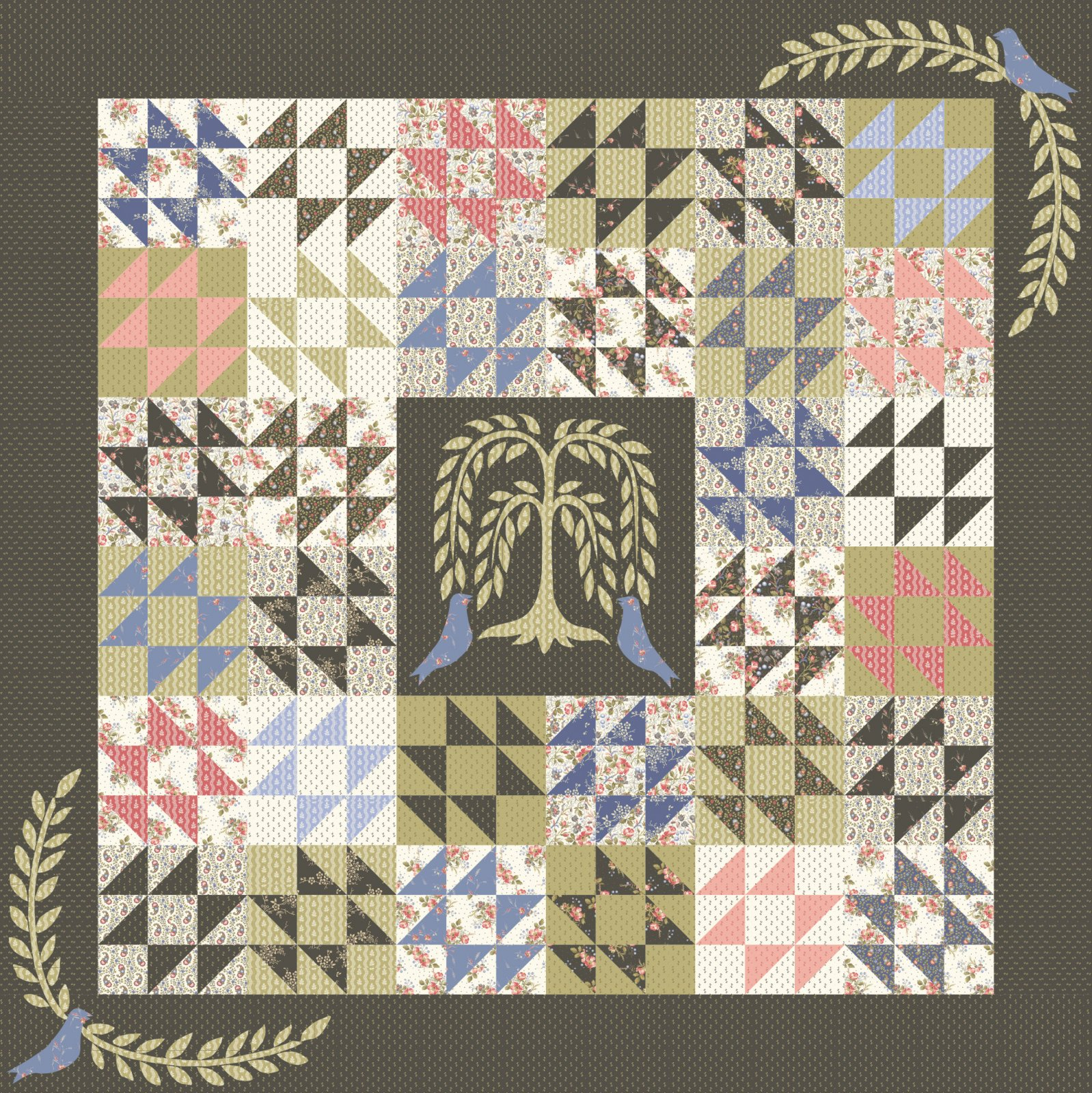 52021QK Crows in the Corner Quilt Kit in Annie