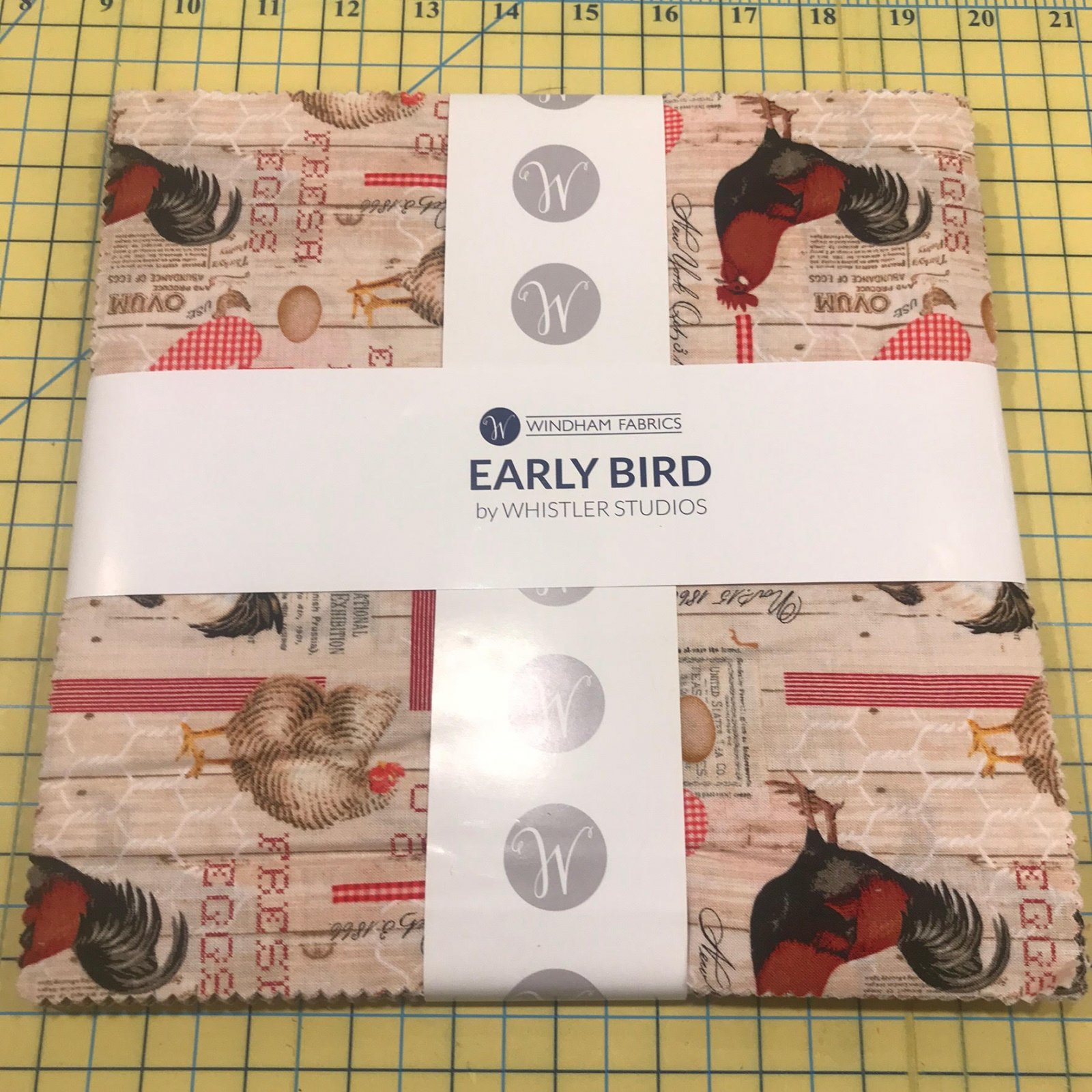 10 squares Early Bird by Windham Fabrics